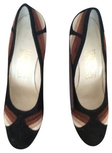 Salvatore Ferragamo Limited E Black/Brown Pumps