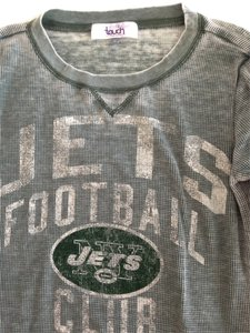 Touch by Alyssa Milano Thermal Nfl Jets T Shirt Green
