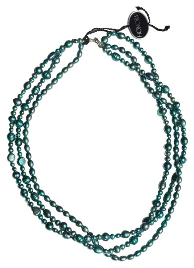 Honora Honora Blue Pearl 3 Strand Necklace