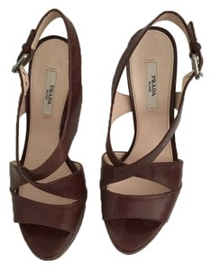 Prada Brown Platforms