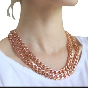 BaubleBar Baublebar Rose Gold Double Curb Chain With Pouch