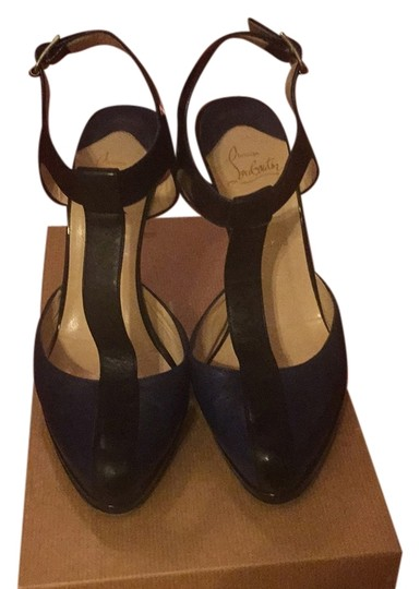 Christian Louboutin Navy and blue Platforms