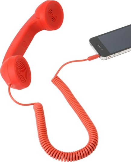 The Black Series New-The Black Series by Shift 3 Retro Phone Handset - Red - for Cell/Laptop/Tablet