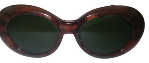 Other Vintage 1970s Sunglasses Red Tortoise Oversize Fashion Frame Green Lens Korea