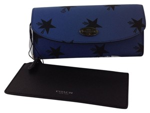 Coach NWT Coach Star Canyon Pop Slim Envelope Wallet Cornflower Blue/Black