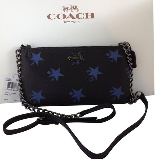 Coach Star Canyon Phone Case Crossgrain Leather Corner Zip 64329 Cross Body Bag