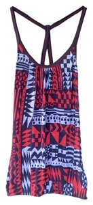 Forever 21 Cami Geo Top Blue and Orange