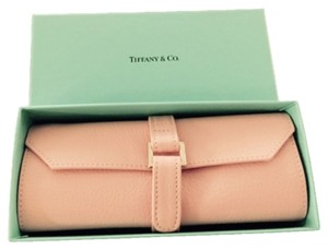 Tiffany & Co. Tiffany & Co., Brand new pink leather jewelry roll with Tiffany & Co. Blue Box