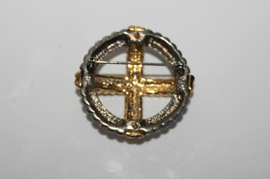 Other Beautiful Grey and Gold Brooch