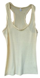 Old Navy Racerback Racer-back Top Pale Yellow