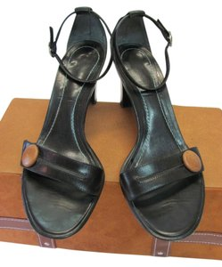 Ann Taylor Good Condition Leather Black Sandals