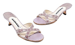 TITTI DELL'ACQUA Manolo Alligator Lavender Mules