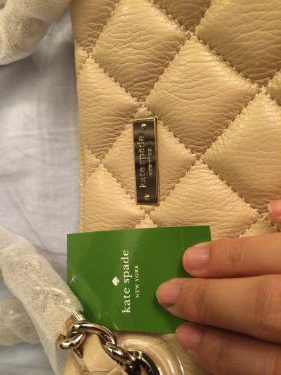 Kate Spade Quilted Leather Tote in Cashew