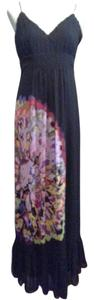 Black / Flower Maxi Dress by Kensie