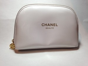 Chanel Chanel cosmetic white bag