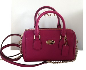 Coach Satchel in Cranberry