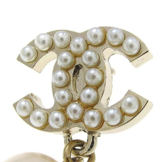 Chanel Authentic Chanel Pearl Motif Earrings