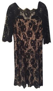 MILLY short dress Black Lace Lace on Tradesy