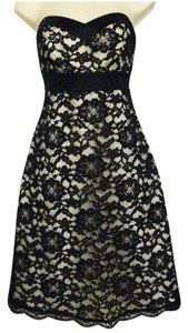 White House | Black Market Floral Lace Strapless Dress