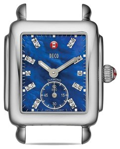 Michele Nwt Michele women's deco 16 diamond dial watch $835 (695 face and 140 strap)