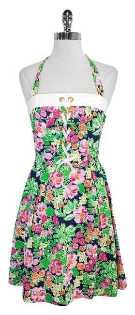 Lilly Pulitzer short dress Multi Color Floral Print Cotton on Tradesy