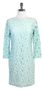 Diane von Furstenberg short dress Blue Floral Eyelet Sarita Zarita on Tradesy
