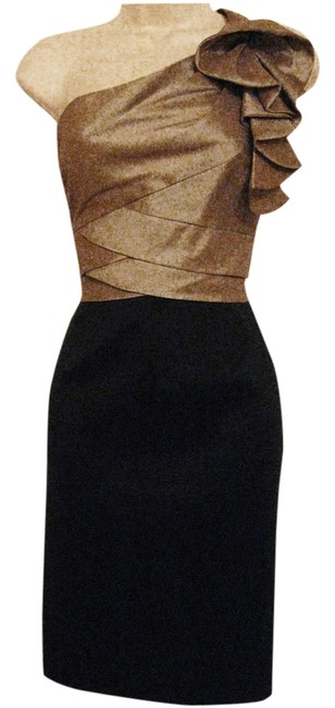 Preload https://item5.tradesy.com/images/london-times-black-and-taupe-one-shoulder-knee-length-cocktail-dress-size-8-m-5893534-0-0.jpg?width=400&height=650