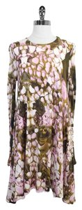 Alexander McQueen short dress Pink Brown Floral Print Trapeze on Tradesy