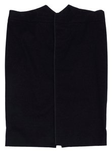 Gucci Black Cotton Blend Pencil Skirt
