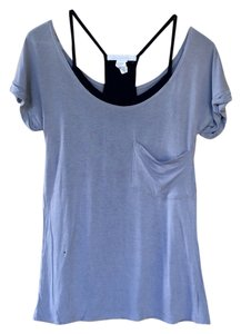 Charlotte Russe Two-in-one 2-in-1 Cami Top Grey and Black