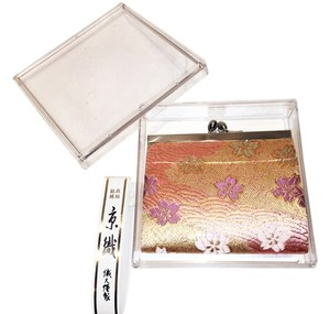Structured Coin Purse; Gilded Pink Blossoms [ Roxanne Anjou Closet ]