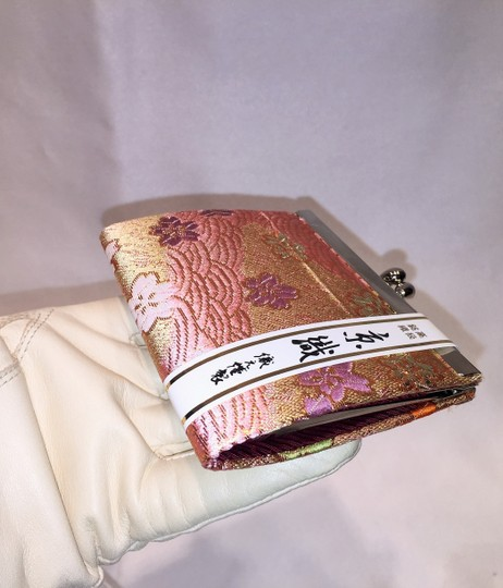 Other Structured Coin Purse; Gilded Pink Blossoms [ Roxanne Anjou Closet ]