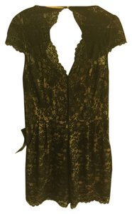 bebe Romper Lace Mini Dress