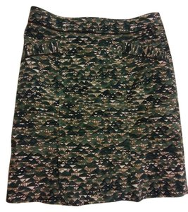 Anthropologie Pencil Velvet Skirt Geometric