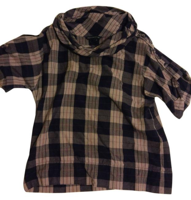 French Connection Plaid Button Top Multi, Plaid
