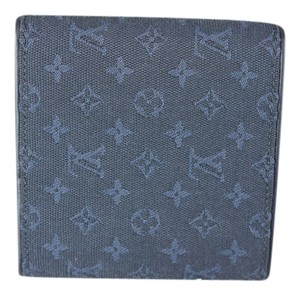 Louis Vuitton * Louis Vuitton Monogram Canvas Denim Wallet - Blue