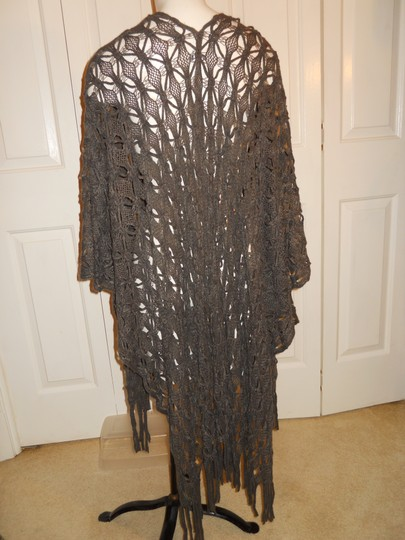 Croft & Barrow crocheted fringed ruana wrap