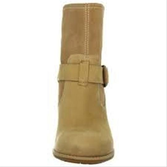 Timberland Waterproof Leather Pull-on Western-inspired Wide Width Tan Boots Image 3