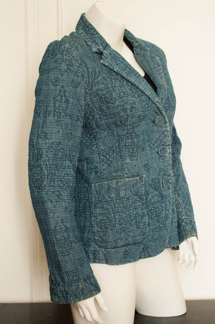 Gap Quilted Denim Boho Bohemian Hippy Hippie Vintage Style Cochella Burningman Distressed Faded Coat Spring Fall India V Womens Jean Jacket