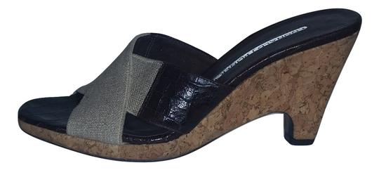 Donald J. Pliner 9 Out Of 10-xlt Cond Minimal Wear Cork Heel Criss Cross Style Perfectly Neutral Brown/Tan Wedges