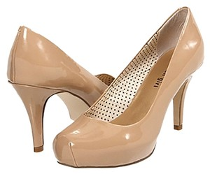 Madden Girl Designer Steve Madden Stiletto Nude Heels Sexy Leather Blush (Nude) Pumps