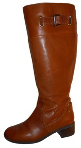Bandolino Leather Riding tan Boots