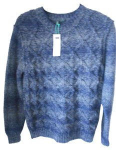 United Colors of Benetton Wool Acrylic Blue New Gray Sweater