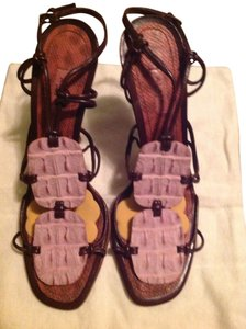 ALAÏA Made In Italy Size 40 Pink & Brown Sandals