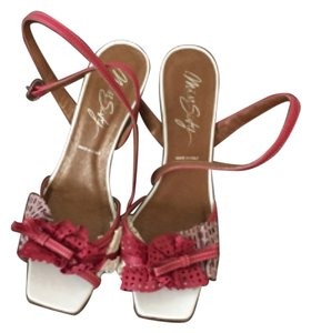 Miss Sixty Red and white Wedges
