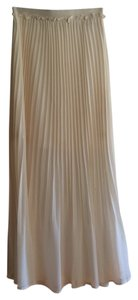 Double Zero Elastic Waist Flowy Summer Maxi Skirt Cream
