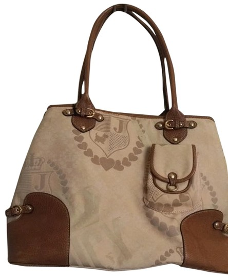 Juicy Couture Extra Large Diaper School Brown/Cream Travel Bag Image 0