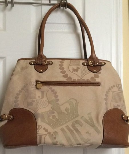 Juicy Couture Extra Large Diaper School Brown/Cream Travel Bag Image 1