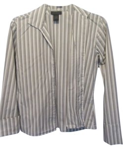 The Limited Top grey stripe