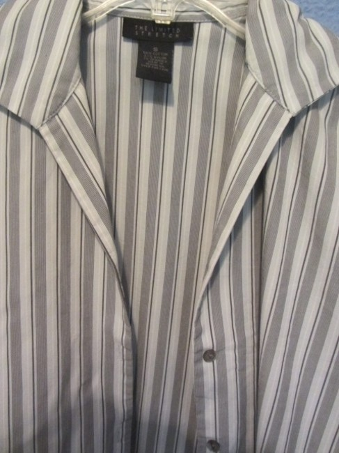 The Limited Top grey stripe Image 1